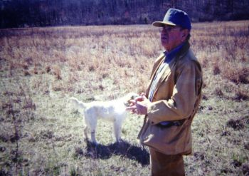 Jack White with one of my bird dogs, Rudy the Setter.